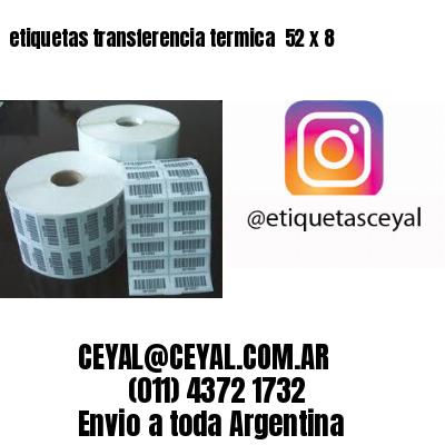 etiquetas transferencia termica  52 x 8