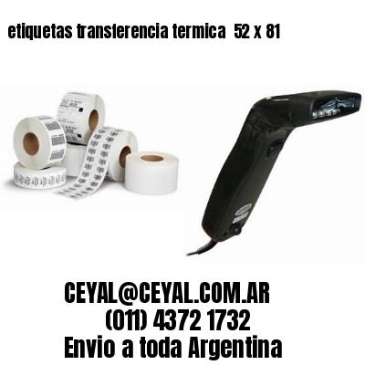etiquetas transferencia termica  52 x 81