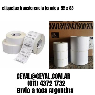 etiquetas transferencia termica  52 x 83