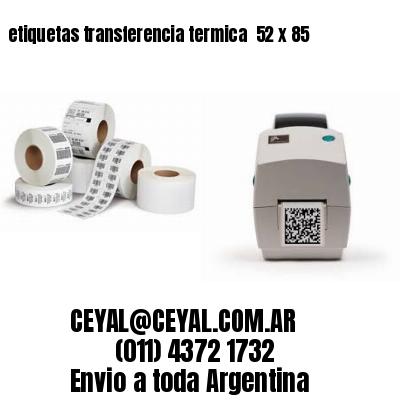 etiquetas transferencia termica  52 x 85