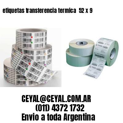 etiquetas transferencia termica  52 x 9