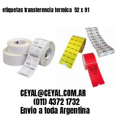 etiquetas transferencia termica  52 x 91