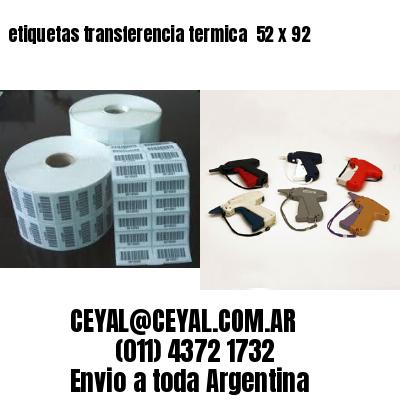 etiquetas transferencia termica  52 x 92