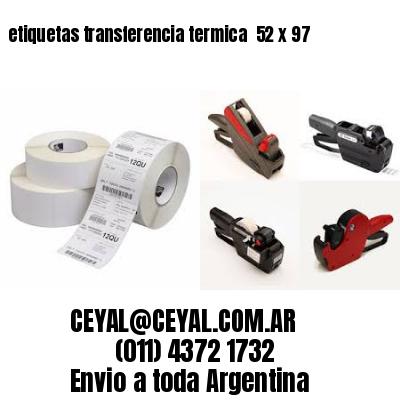 etiquetas transferencia termica  52 x 97