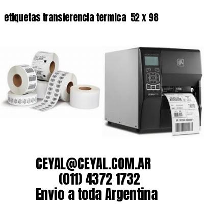 etiquetas transferencia termica  52 x 98