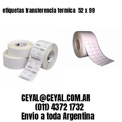 etiquetas transferencia termica  52 x 99