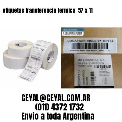 etiquetas transferencia termica  57 x 11
