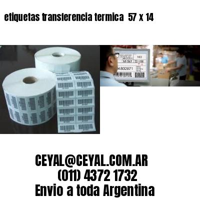 etiquetas transferencia termica  57 x 14