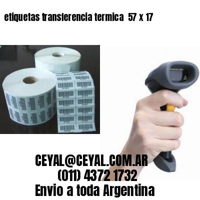 etiquetas transferencia termica  57 x 17