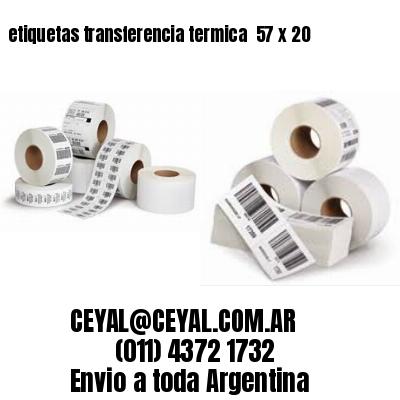 etiquetas transferencia termica  57 x 20