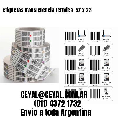 etiquetas transferencia termica  57 x 23