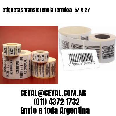 etiquetas transferencia termica  57 x 27