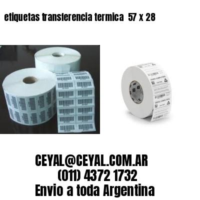 etiquetas transferencia termica  57 x 28