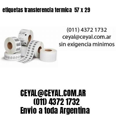 etiquetas transferencia termica  57 x 29