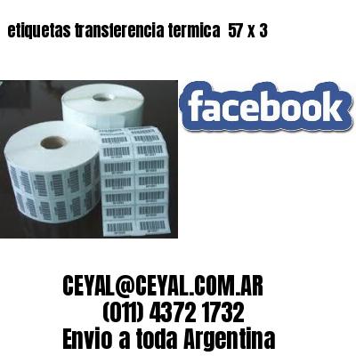 etiquetas transferencia termica  57 x 3