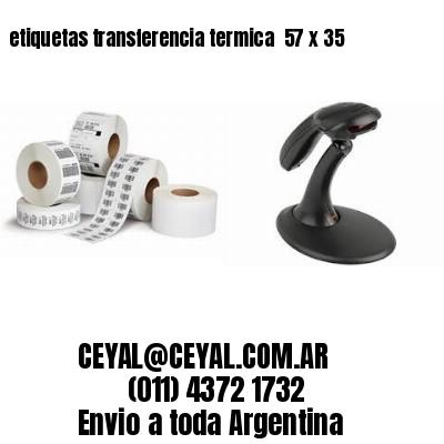 etiquetas transferencia termica  57 x 35