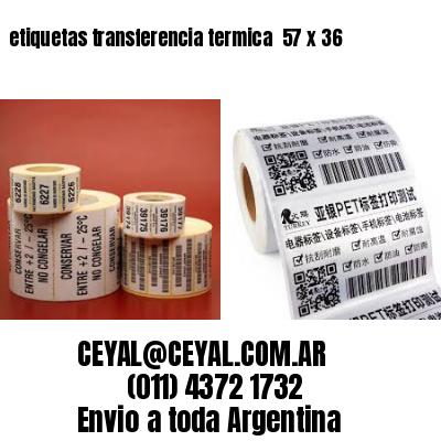 etiquetas transferencia termica  57 x 36