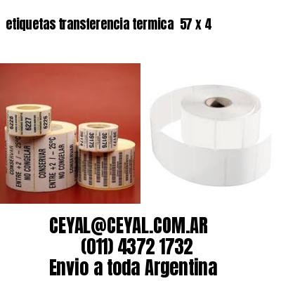 etiquetas transferencia termica  57 x 4