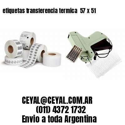 etiquetas transferencia termica  57 x 51