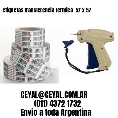 etiquetas transferencia termica  57 x 57
