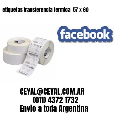 etiquetas transferencia termica  57 x 60