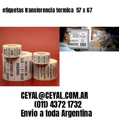 etiquetas transferencia termica  57 x 67