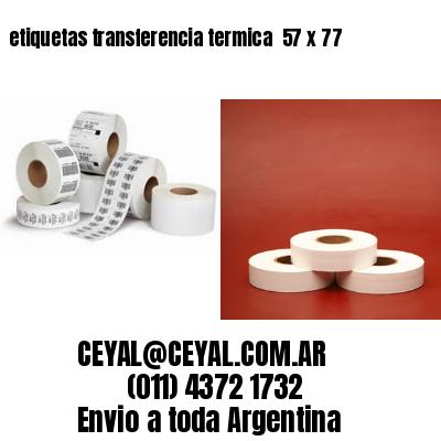 etiquetas transferencia termica  57 x 77
