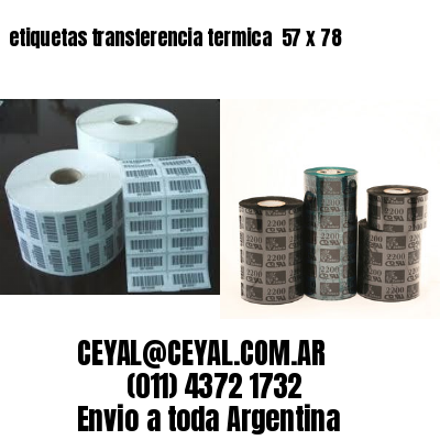 etiquetas transferencia termica  57 x 78