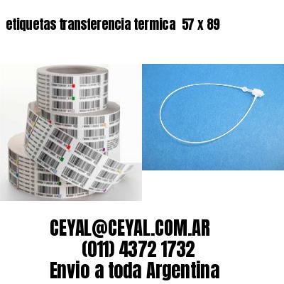 etiquetas transferencia termica  57 x 89