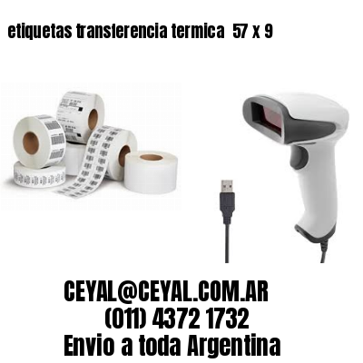 etiquetas transferencia termica  57 x 9