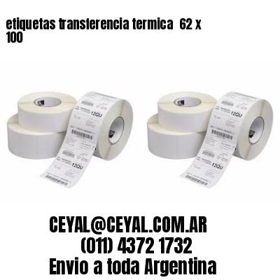 etiquetas transferencia termica  62 x 100