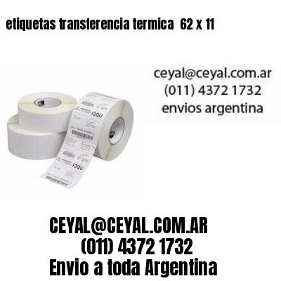 etiquetas transferencia termica  62 x 11