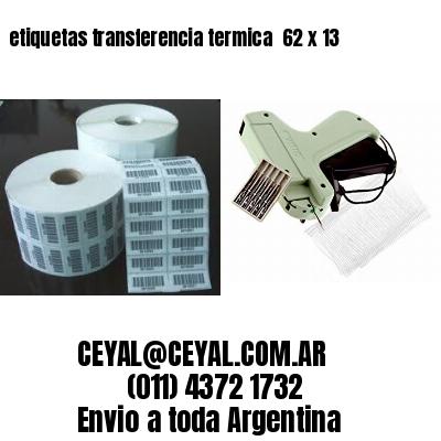 etiquetas transferencia termica  62 x 13