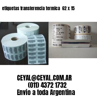 etiquetas transferencia termica  62 x 15