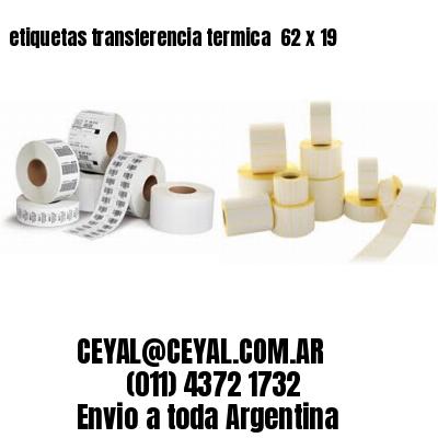 etiquetas transferencia termica  62 x 19