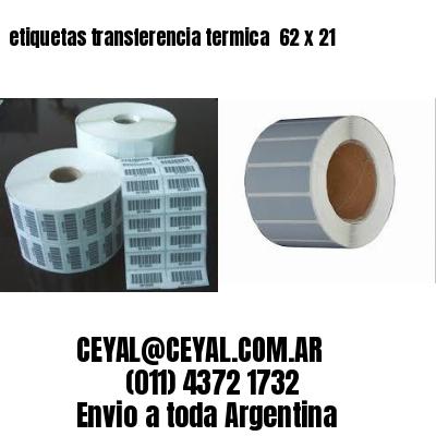 etiquetas transferencia termica  62 x 21