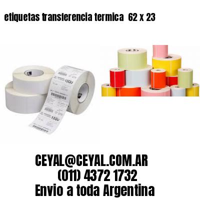 etiquetas transferencia termica  62 x 23