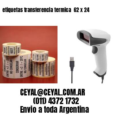 etiquetas transferencia termica  62 x 24