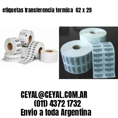 etiquetas transferencia termica  62 x 29