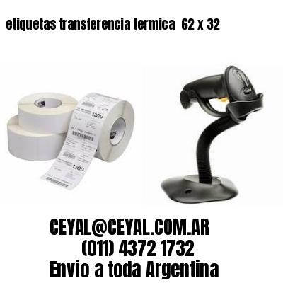 etiquetas transferencia termica  62 x 32