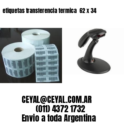 etiquetas transferencia termica  62 x 34