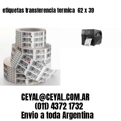 etiquetas transferencia termica  62 x 39