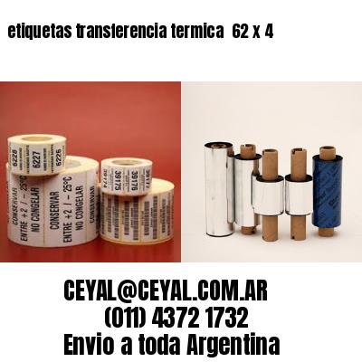 etiquetas transferencia termica  62 x 4