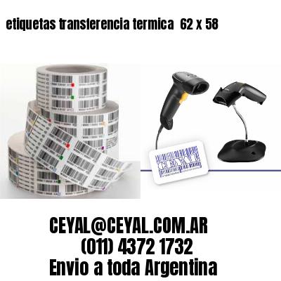 etiquetas transferencia termica  62 x 58