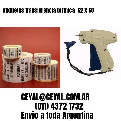 etiquetas transferencia termica  62 x 60