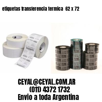 etiquetas transferencia termica  62 x 72