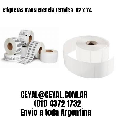 etiquetas transferencia termica  62 x 74