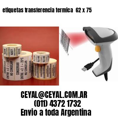 etiquetas transferencia termica  62 x 75