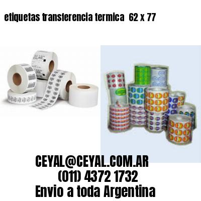 etiquetas transferencia termica  62 x 77