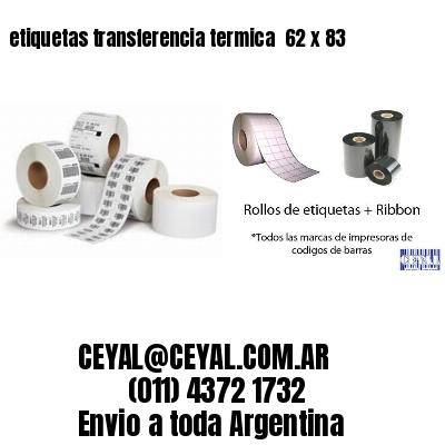 etiquetas transferencia termica  62 x 83